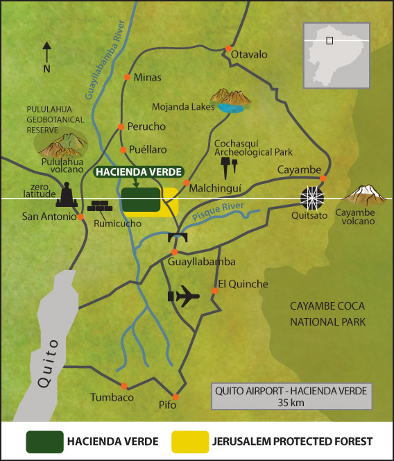 Map Hacienda Verde